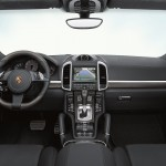Yellow Porsche Cayenne S 2011 3000x1560 wallpaper Interior