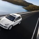 Sand White Porsche Cayenne S Hybrid 2011 3000x1560 wallpaper Front angle top view