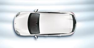 Sand White Porsche Cayenne S Hybrid 2011 3000x1560 wallpaper Top view
