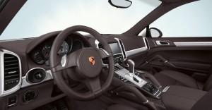 Sand White Porsche Cayenne S Hybrid 2011 3000x1560 wallpaper Interior