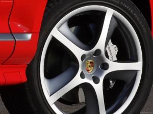 Red Porsche Cayenne S Titanium 2006 1600x1200 wallpaper Wheel