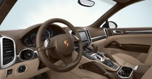 Jet Black Metallic Porsche Cayenne Turbo 2011 3000x1560 wallpaper Interior
