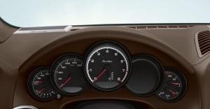 Jet Black Metallic Porsche Cayenne Turbo 2011 3000x1560 wallpaper Interior Dashboard