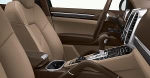 Jet Black Metallic Porsche Cayenne Turbo 2011 3000x1560 wallpaper Interior