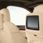 Jet Black Metallic Porsche Cayenne Turbo 2011 3000x1560 wallpaper Interior Seats Screen