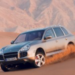 Umber Metallic Porsche Cayenne Turbo S 2006 1600x1200 wallpaper Front angle view