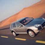 Umber Metallic Porsche Cayenne Turbo S 2006 1600x1200 wallpaper Side angle view