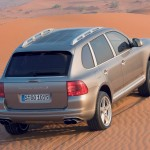 Umber Metallic Porsche Cayenne Turbo S 2006 1600x1200 wallpaper Rear angle top view