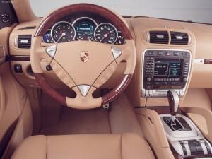 Umber Metallic Porsche Cayenne Turbo S 2006 1600x1200 wallpaper Interior