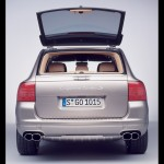 Umber Metallic Porsche Cayenne Turbo S 2006 1600x1200 wallpaper Rear view