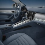 Aqua Blue Metallic Porsche Panamera 4S 2011 wallpaper Interior