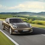 Cognac Metallic Porsche Panamera 4 2011 wallpaper Front angle view