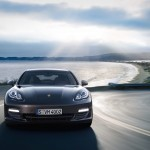Carbon Grey Metallic Porsche Panamera S 2011 wallpaper Front view