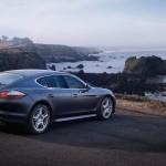 Carbon Grey Metallic Porsche Panamera S 2011 wallpaper Rear angle view