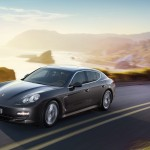 Carbon Grey Metallic Porsche Panamera S 2011 wallpaper Front side angle view