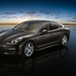 Carbon Grey Metallic Porsche Panamera S 2011 wallpaper Front angle view