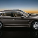 Carbon Grey Metallic Porsche Panamera S 2011 wallpaper Side view