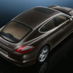 Carbon Grey Metallic Porsche Panamera S 2011 wallpaper Rear angle top view