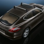 Carbon Grey Metallic Porsche Panamera S 2011 wallpaper Rear Side angle top view