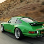 2011 Singer Racing Green Porsche 911 Side angle view