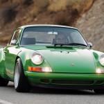 2011 Singer Racing Green Porsche 911 Front view