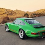 2011 Singer Racing Green Porsche 911 Rear angle view