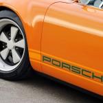 Singer Racing Orange Porsche 911 Side view