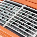 Singer Racing Orange Porsche 911 Engine grill