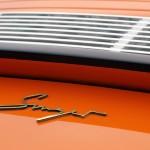Singer Racing Orange Porsche 911 Rear engine grill