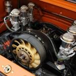 Singer Racing Orange Porsche 911 Engine