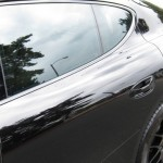 Sylvester Stallone's 2010 black Porsche Panamera 4S Side view
