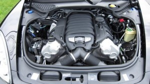 Sylvester Stallone's 2010 black Porsche Panamera 4S Engine