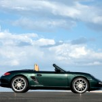 2009 Porsche Racing Green Metallic Boxster wallpaper Side view