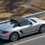 2010 Silver Porsche Boxster Spyder wallpaper Side angle Top view