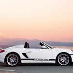 2010 White Porsche Boxster Spyder wallpaper Side view