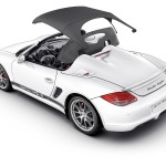 2010 Porsche Boxster Spyder wallpaper Rear angle side view Roof opening