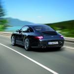 2011 Black Porsche 911 Black Edition Wallpaper Rear angle view