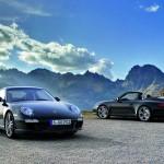 2011 Black Porsche 911 Black Edition Wallpaper Front angle view