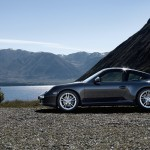 2011 Black Porsche 911 Carrera 4 Wallpaper Side view