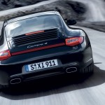 2011 Black Porsche 911 Carrera 4 Wallpaper Rear view