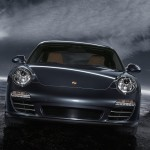 2011 Black Porsche 911 Carrera 4 Wallpaper Front view
