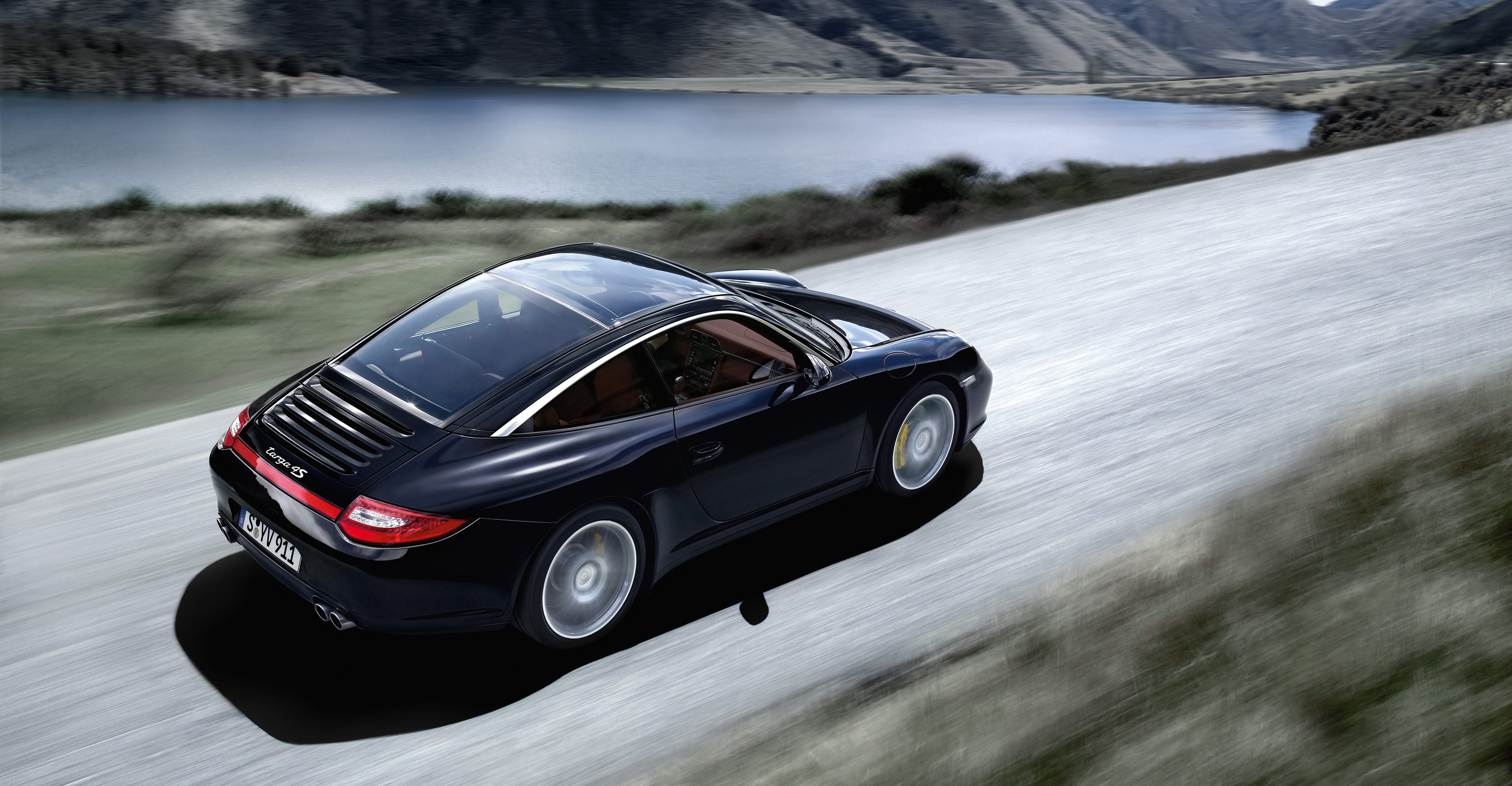 2011 Black Porsche 911 Targa 4s Wallpapers