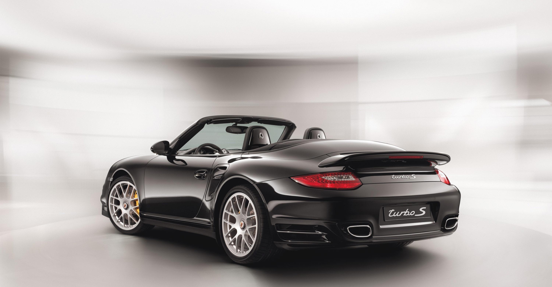 2011 Black Porsche 911 Turbo S Cabriolet Wallpapers
