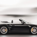 2011 Black Porsche 911 Turbo S Cabriolet Wallpaper Side view