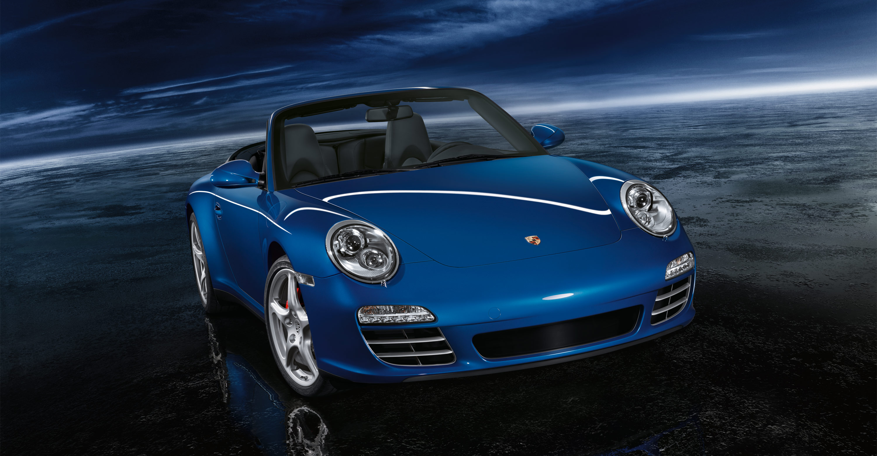 2011 Blue Porsche 911 Carrera 4s Cabriolet Wallpapers