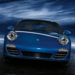2011 Blue Porsche 911 Carrera 4S Cabriolet Wallpaper Front view
