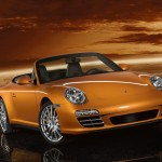2011 Gold Porsche 911 Carrera 4 Cabriolet Wallpaper Front angle view