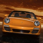 2011 Gold Porsche 911 Carrera 4 Cabriolet Wallpaper Front view