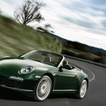 2011 Green Porsche 911 Carrera S Cabriolet Wallpaper Front angle side view