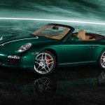2011 Green Porsche 911 Carrera S Cabriolet Wallpaper Side angle view